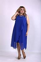 Платье летнее с шифоновой накидкой,  от 42 до 74 размера, фото 1