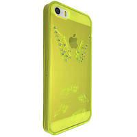 Чехол-накладка DK-Case силикон Крылья с камнями для Apple iPhone 5/5S (light green)