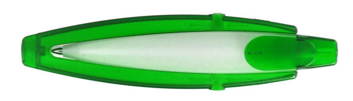 Ручка ber200VT пластиковая, зеленая, от 100 шт