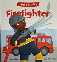 Книга на английском языке для детей о профессиях Firefighter