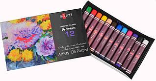 Пастель олійна Santi 12 кольорів 353184