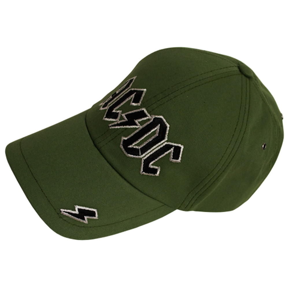 Бейсболка ACDC (лого) оливковая