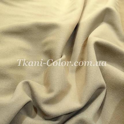 Пальтовая ткань кашемир бежевый, фото 2