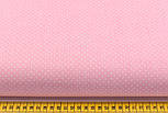 Ткань хлопковая с белыми точками 2 мм на пудровом фоне (№2238)., фото 2