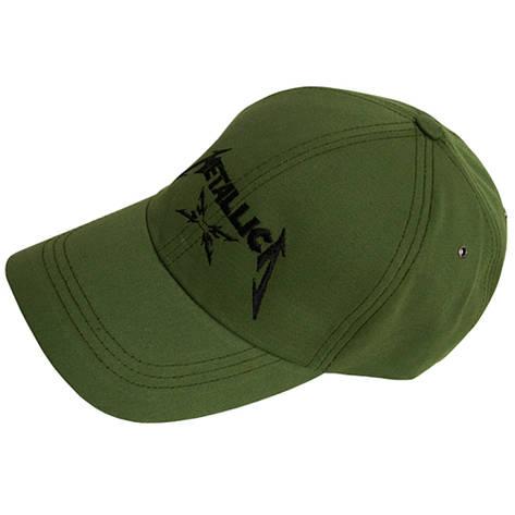Бейсболка METALLICA (лого) оливковая, фото 2