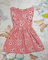 Летнее платье для девочки Куколка р.104-122 красный, фото 1