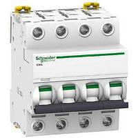 Автоматический выключатель iC60L 4P 63A C Schneider Electric (A9F94463), фото 1