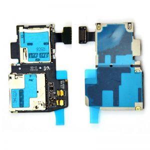 Коннектор SIM-карты и карты памяти для Samsung i9295 Galaxy S4 Active, i537 на шлейфе