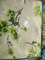 Постельное полуторное белье с ветками цветущих цветов
