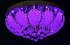 """Люстра """"торт"""" на 6 лампочек с LED подсветкой на пульте управления СветМира  VL-1923/500/6, фото 2"""