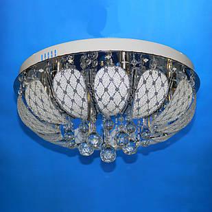 """Люстра """"торт"""" на 6 лампочек с LED подсветкой на пульте управления СветМира  VL-1923/500/6"""