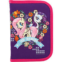 """Пенал Kite """"My littly Pony-2"""", фиолетового цвета, пенал-книжка отделения с отворотом, резинки для фиксации, 111080(LP18-621-2)"""