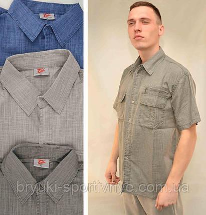 Рубашка мужская льняная с коротким рукавом и в хороших размерах, фото 2