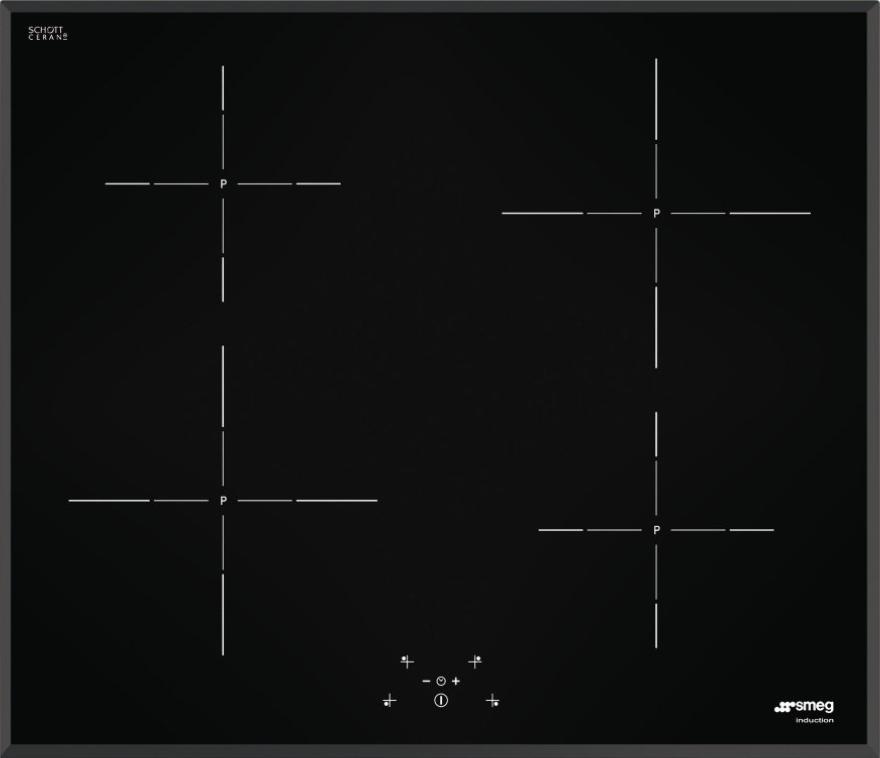 Индукционная варочная поверхность Smeg SI5643B