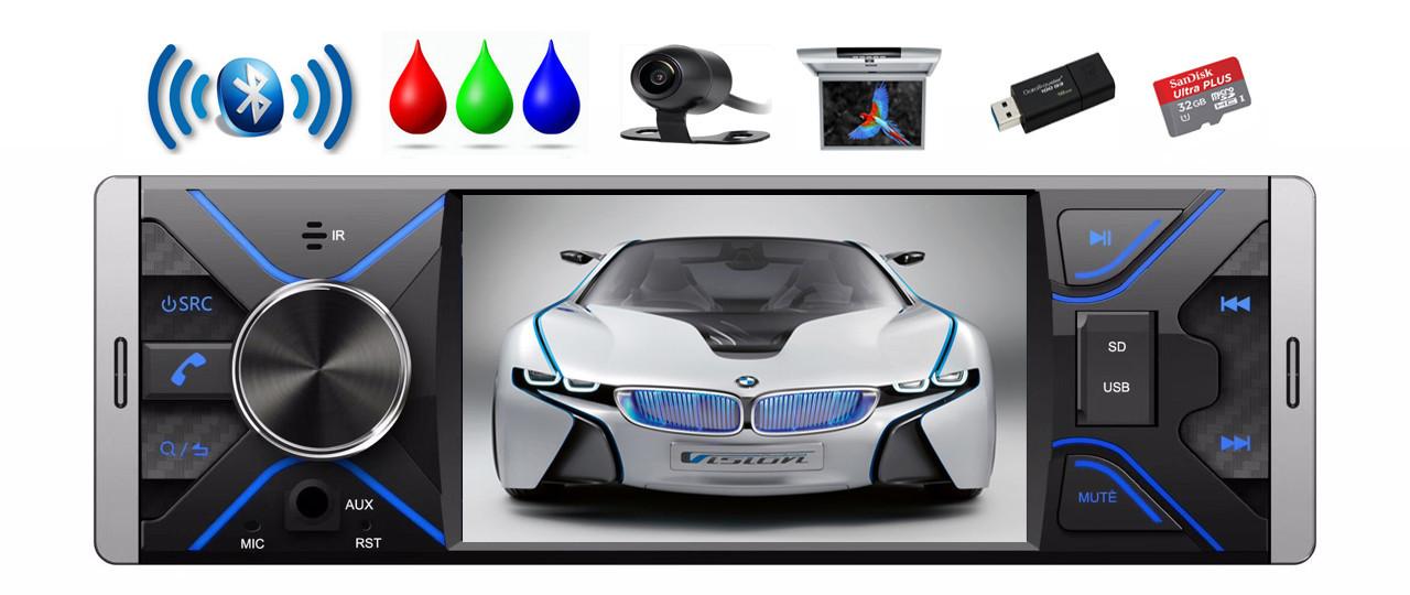 Автомагнитола Terra 6403, MP5, Bluetooth, RGB, AV-in/out, фото 1