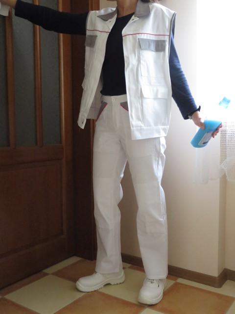 Комплект спецодежды жилет и брюки белые ПЭ+ХБ Wurth