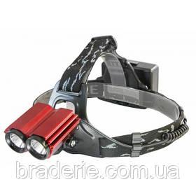 Ліхтар налобний велосипедний Police LL 6636 T6 Акумуляторний