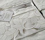 Комплект постельного белья сатин Moonlight first choice евро размер April leylak, фото 2