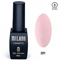 Гель-лак Milano 8 мл. №001 (розовый)