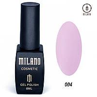 Гель-лак Milano 8 мл. №004 (розовый)