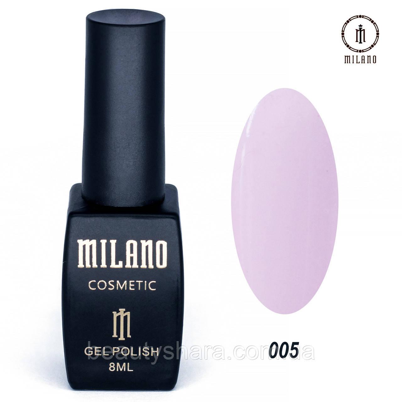 Гель-лак Milano 8 мл. №005 (розовый)