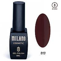 Гель-лак Milano 8 мл. №013 (Бордовый)