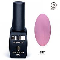 Гель-лак Milano 8 мл. №017 (розовый)