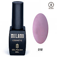 Гель-лак Milano 8 мл. №018 (фиолетовый)