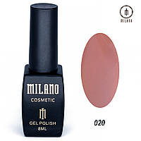 Гель-лак Milano 8 мл. №020 (розовый)