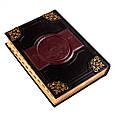 """Біблія в шкіряній палітурці інкрустована кристалами Swarovski """"Родова"""" (сім'ї Токарєвих), фото 4"""