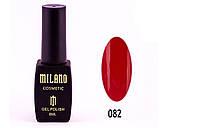 Гель-лак Milano 8 мл. №082 (красный)
