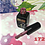 Гель-лак Milano 8 мл.№172 (фиолетовый), фото 3
