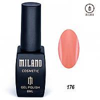 Гель-лак Milano 8 мл. №176 (красный)