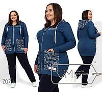 Спортивный костюм женскийс удлиненной кофтой ТЖ/-055