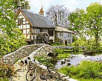 Картина раскраска по номерам Прогулка возле старой мельницы