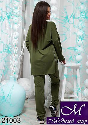 Женский спортивный костюм большого размера хаки, бордо (р. 48-50, 50-52, 52-54) арт. 21003, фото 2
