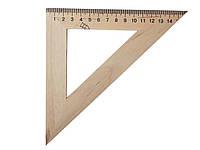 Трикутник дерев'яний 16см 45х45