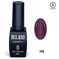 Гель-лак Milano 8 мл. №188 (бордовый)