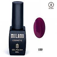 Гель-лак Milano 8 мл. №189 (бордовый)