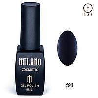 Гель-лак Milano 8 мл. №193 (черный)