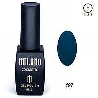 Гель-лак Milano 8 мл. №197 (зеленый)