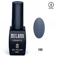 Гель-лак Milano 8 мл. №198 (синий)