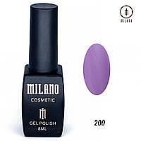 Гель-лак Milano 8 мл. №200 (фиолетовый)