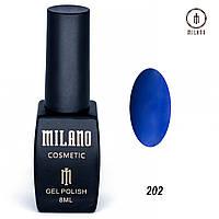 Гель-лак Milano 8 мл. №202 (синий)