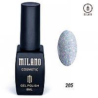 Гель-лак Milano 8 мл. №205 (серый)