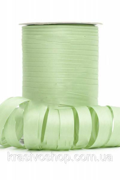 Косая бейка атласная, Bias оттенок зеленого FS-8057