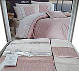 Комплект постельного белья сатин Moonlight first choice евро размер London pudra, фото 3