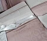 Комплект постельного белья сатин Moonlight first choice евро размер London pudra, фото 2