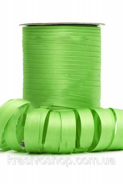 Косая бейка атласная, Bias оттенок зеленого FS-8045