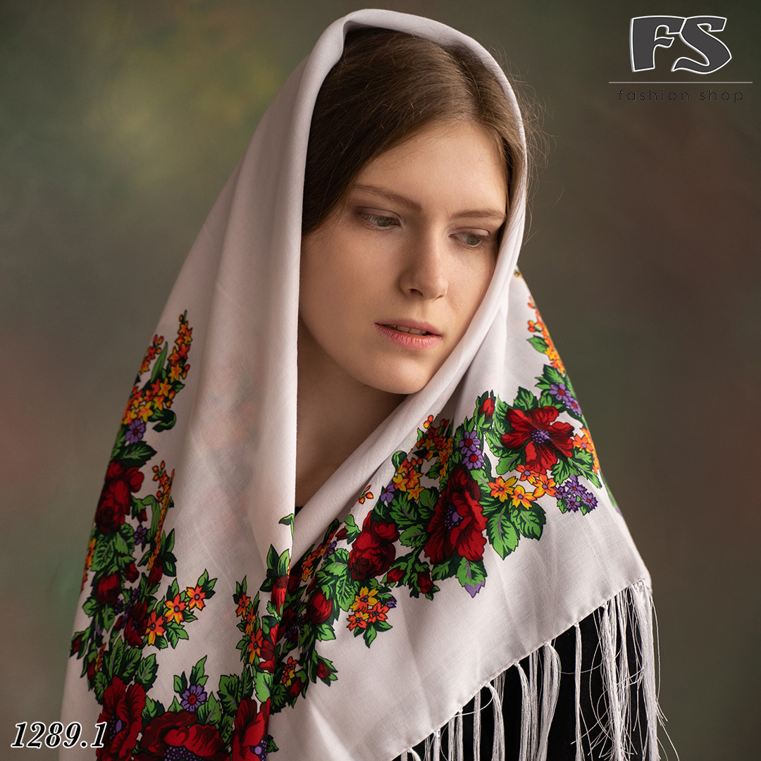 Павлопосадська шерстяна  хустина  Квіткова казка